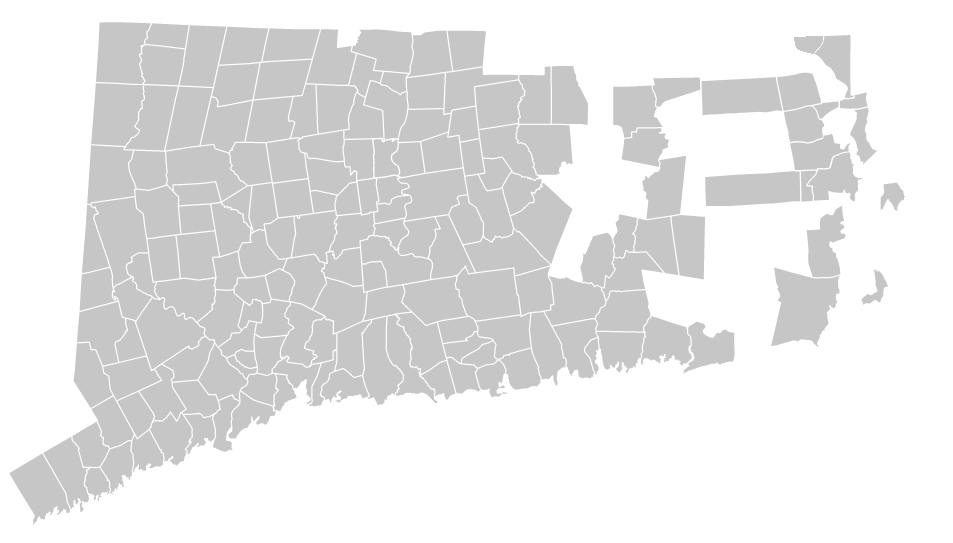 Connecticut And Rhode Island Street Road Maps By MailAMap - Road map of ct
